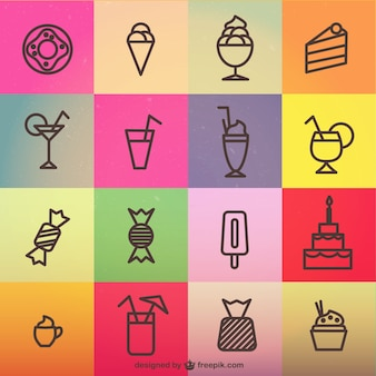 Cute sweets icons
