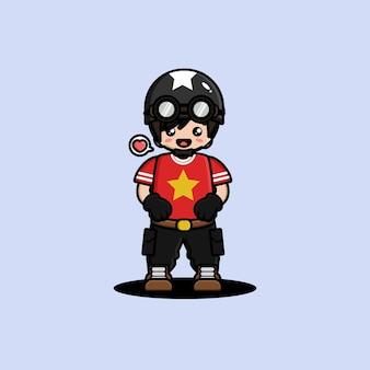 귀여운 탱크맨 캐릭터 디자인