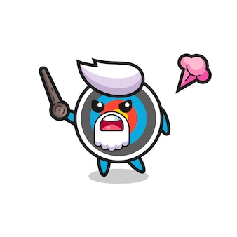 Cute target archery grandpa is getting angry , cute style design for t shirt, sticker, logo element