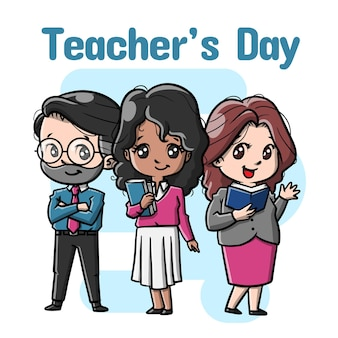 かわいい先生のキャラクター漫画