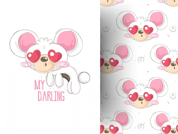 Cute teddy bear,hand drawn vector illustration