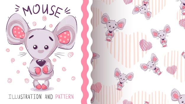 Cute teddy bear - seamless pattern