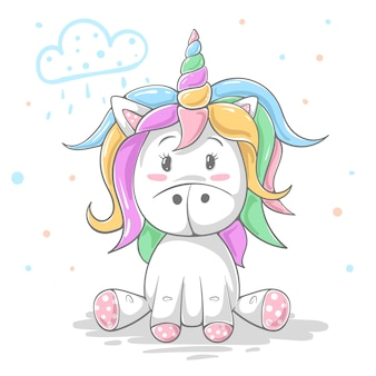 Cute teddy color unicorn