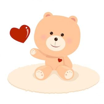 Cute teddy in love
