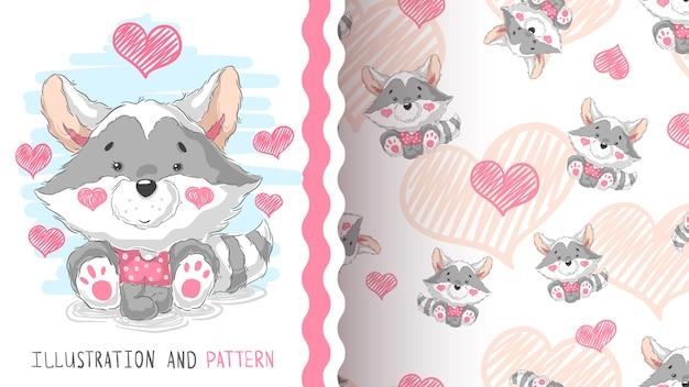Cute teddy raccoon - idea for print t-shirt