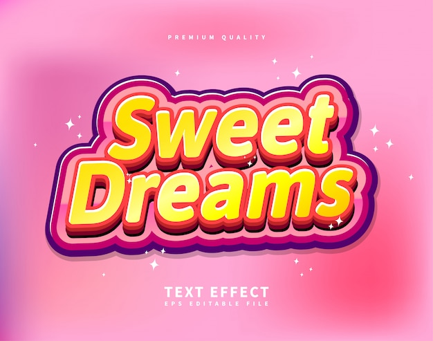 Cute text effect for kids glossy colorful logotype font style