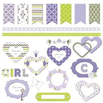 Cute textile templates.