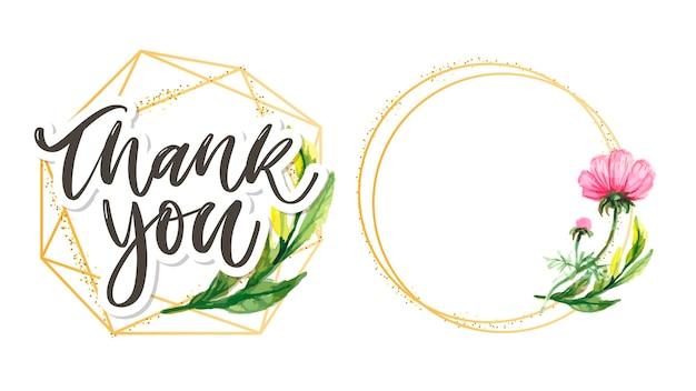 귀여운 감사 스크립트 카드 꽃 편지 텍스트