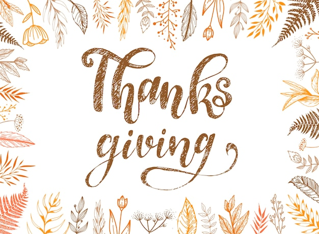 Cute thanksgiving card design