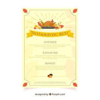 Cute thanksgiving menu