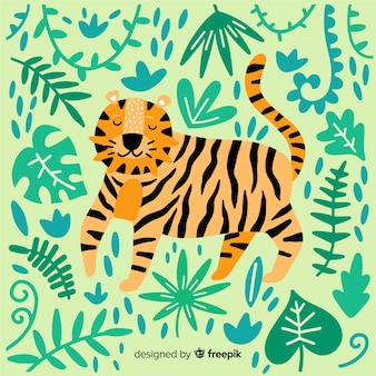Симпатичный фон тигра