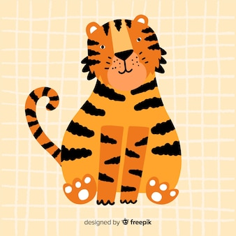 Cute tiger background