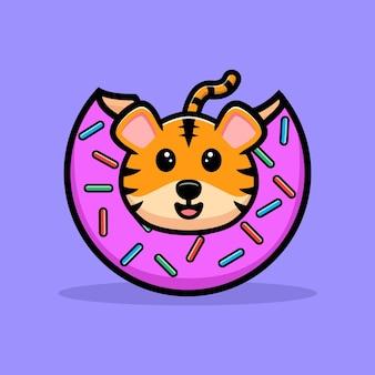 かわいい虎の漫画のマスコット