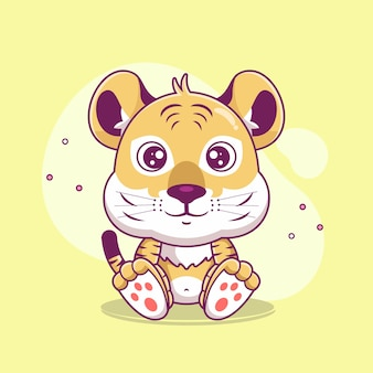 귀여운 호랑이 만화