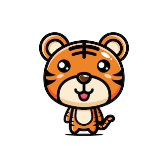 Cute tiger character design