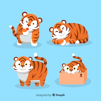 Cute tiger collection
