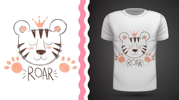 Cute tiger idea for print t-shirt