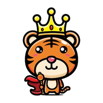 Cute tiger king character design