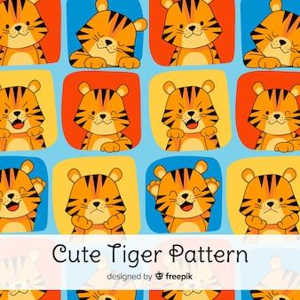 Симпатичный рисунок тигра Бесплатные векторы