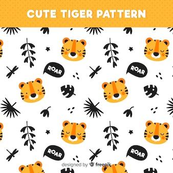 귀여운 호랑이 패턴