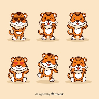 Cute tiger set
