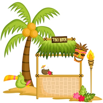 Cute tiki bar