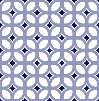 Cute tile pattern, vintage modern seamless background