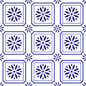 Cute tile pattern with flower