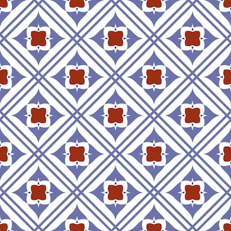 Cute tile seamless pattern