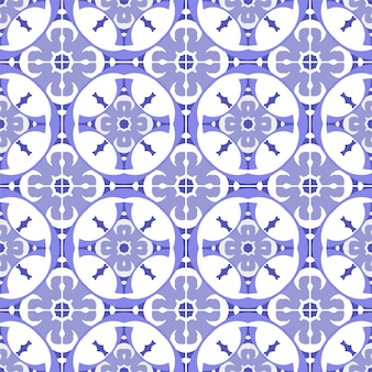 Cute tiles pattern seamless
