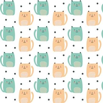 Cute tiny cat pattern