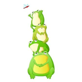 Cute toads cartoon