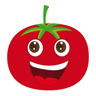 Cute tomate cartoon over white background vector illustration