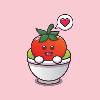 Милый помидор в салатнике