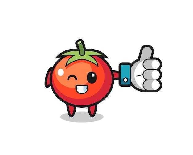 Симпатичные помидоры с символом