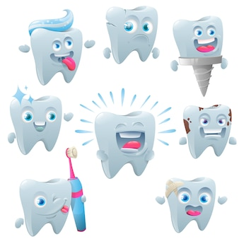 Набор символов милый зуб