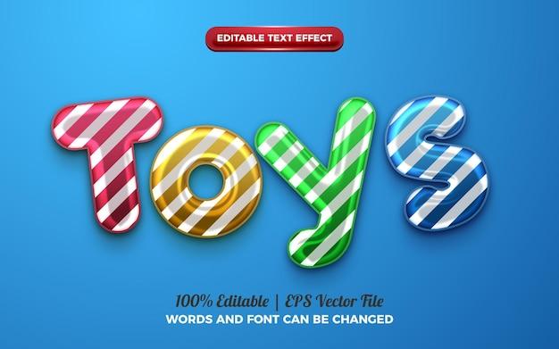 Cute toys baloon 3d liquid editable text effect for happy birthday