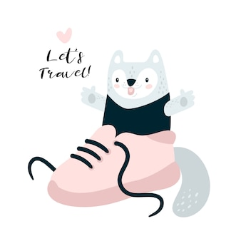 Cute travel kitty cat