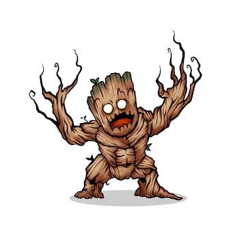 Cute tree monster