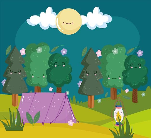 귀여운 나무 텐트 캠핑 텐트