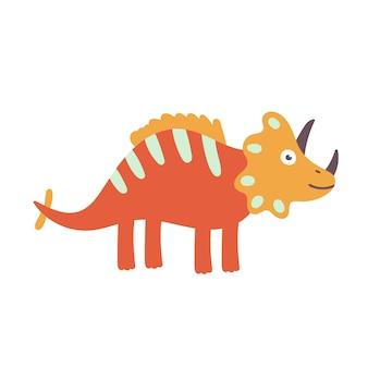 Cute triceratops dinosaur