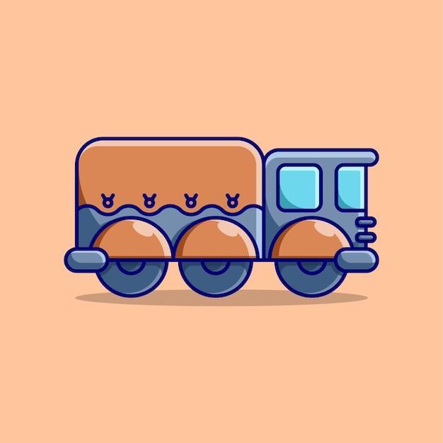 Симпатичный грузовик мультяшный дизайн современный