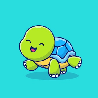 Cute turtle doing yoga cartoon  icon illustration. animal sport icon concept  premium .  cartoon style