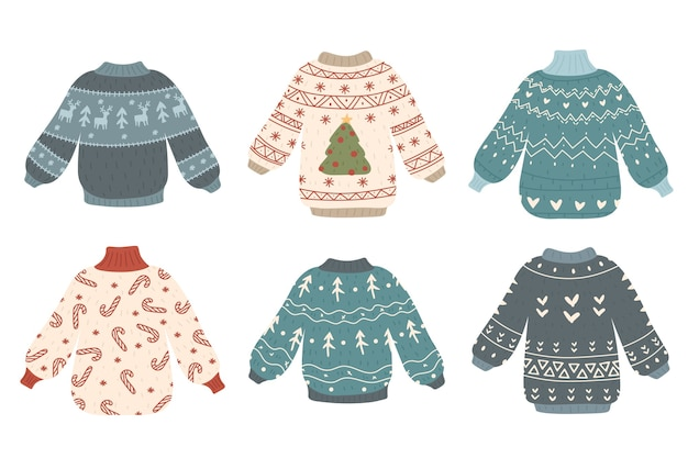Cute ugly christmas sweaters collection