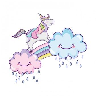 Милый единорог и облака