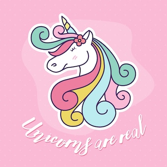 Cute unicorn cartoon character illustration design