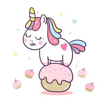 Cute unicorn cartoon