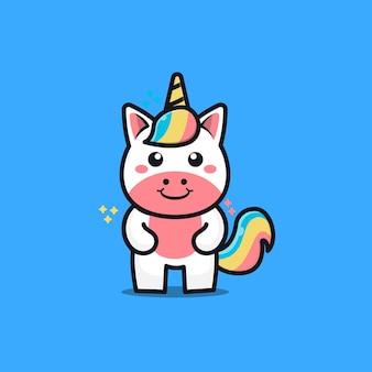 Cute unicorn character cartoon   illustration