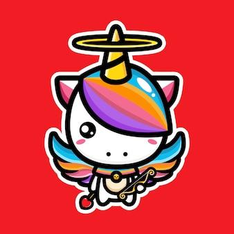 귀여운 유니콘 디자인 캐릭터