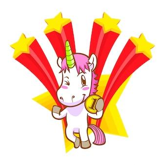 Cute unicorn doodle, winning 1st